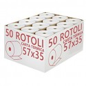 ROTOLI CARTA TERMICA 57X35 mm. OMOLOGATI CONF. 10 PZ.