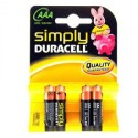 PILA DURACELL SIMPLY MINISTILO 1,5 V. (AAA) CONF. 4 PZ.