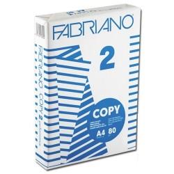 Carta per fotocopie e stampanti Laser Fabriano Copy 2 A/4 conf. da 5 risme di 500 fogli