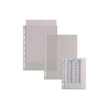 BUSTE IN PLASTICA CON FORATURA UNIVERSALE 22X30-10 LISCIA CONF. 50 PZ.